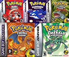 Get all 5 Pokemon GBA Games For 1 Low Price | Pokemon Emerald Version GBA | Pokemon Fire Red Version GBA | Pokemon Ruby Version GBA | Pokemon Sapphire Version GBA | Pokemon Leaf Green Version GBA