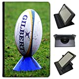 Rugby Ball On Kicking Tee Universal Faux Leather Case Cover / Folio for the Nvidia Shield K1