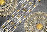 Welt-der-Träume Fototapete Tapete Wandbild Mandala   P8 (368cm. x 254cm.)   Photo Wallpaper Mural 10123P8-MS   Mandala Indien Indisch Orient Orientalisch Gold