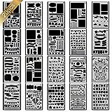 20 pochoir bullet journal plus de 1000 différents modèles de plastique Planner DIY modèle de dessin 10,2 x 17,8 cm pochoir peinture pour la carte scrapbooking et projets artistiques