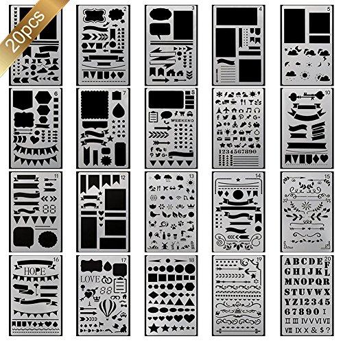 20-pochoir-bullet-journal-plus-de-1000-differents-modeles-de-plastique-planner-diy-modele-de-dessin-