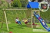 Spielturm Premium M mit 2x Schaukel Sandkasten aus Holz von Gartenpirat®