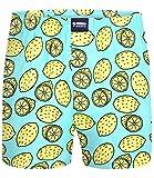 Happy Shorts Boxershorts Herren/Web-Boxer mit Jersey-Innenslip Lemons S