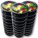 10 STÜCKE Runde Lebensmittelbehälter Mahlzeit Prep Schalen Mikrowelle Gefrierschrank Sicher Auslaufsichere Lebensmittelbehälter mit Deckel für Hausaufgaben und Reisen, BPA FREI, 720 ML