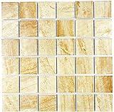 Mosaik Fliese Keramik Travertin beige matt für WAND BAD WC DUSCHE KÜCHE FLIESENSPIEGEL THEKENVERKLEIDUNG BADEWANNENVERKLEIDUNG Mosaikmatte Mosaikplatte