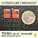 ClosedCube TSYS01 ±0.1°C 24bit ADC Digital Temperature Sensor Breakout Boards (2 pcs)
