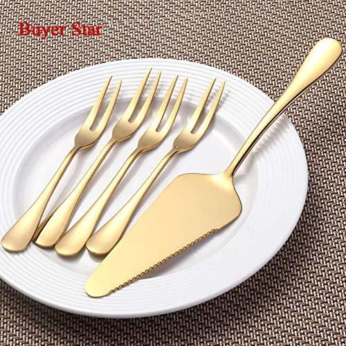 Kuchen Schaufel Kochen Werkzeuge Westlichen Gold Kuchen Messer Für Kuchen/Pizza/Käse/Konditor Kuchen Teiler Buttermesser ()