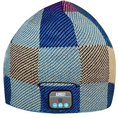 August EPA20 - Gorro Bluetooth - Beanie de invierno con Auriculares Bluetooth Estéreo, Micrófono, Sistema manos libres y batería interna recargable - Compatible con teléfonos móviles, iPhone, iPad, Portátiles, tablets, Smartphones