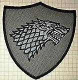 Game of Thrones, Stark Dire Wolf, bestickter Stoffaufnäher zum Aufbügeln