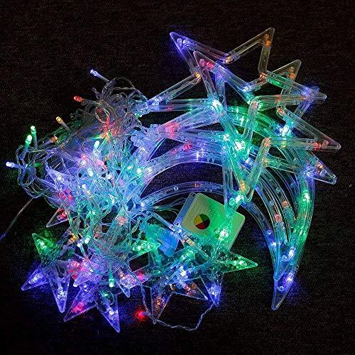 LED Stella tende luci Stella Luna Fata Luce elegante Galaxy String luci impermeabili di 8 modi di controllo esterna coperta di Natale di Halloween festa di nozze decorazioni for la casa camera da lett