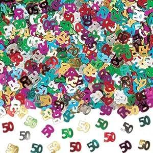 Confettis anniversaire 50 ans - Taille Unique