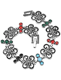 Shining Diva Fashion Jewelry Oxidized Silver Jewellery Stylish Bracelet For Women & Girls