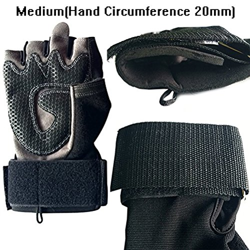 Men & Women Fitness Weight Lifting Glove with Long Wrist Wrap Support 2 Pairs Medium(2 Pair)