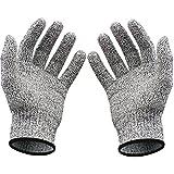 Guanti antitaglio da cucina, protezione antitaglio di livello 5,leggeri, traspiranti e maneggevoli, dispositivo per la protezione delle mani