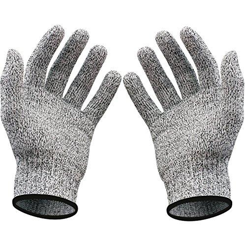 Schnittfest Handschuhe - Lebensmittelqualität Küche Level 5 Schnittschutz - leicht, atmungsaktiv, und extra bequem - erhältlich in den Größen small, medium, large, XL - Schützen Sie IHRE Hände, -