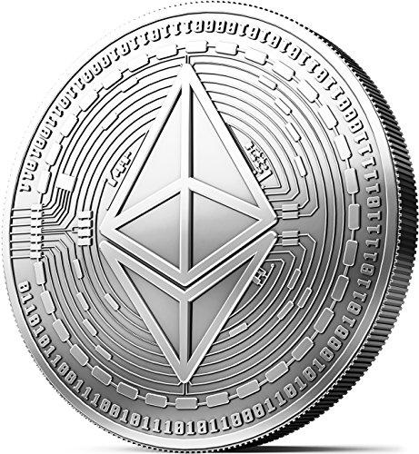 Moneda física de Ethereum revestida en plata auténtico. Una verdadera pieza de coleccionista, con estuche protector. Una adquisición obligada para todo fanático del Ethereum + E-book GRATIS contra ataques cibernéticos