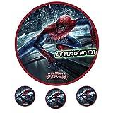 Tortenaufleger Geburtstag Tortenbild Zuckerbild Oblate Motiv: Marvel Spiderman 03 (Zuckerpapier)