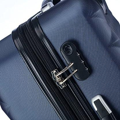 61NMt6SCMVL. SS416  - Ruedas gemelas 2066rígida Maleta Equipaje de viaje Maleta viaje para M de l de XL de Juego en 12colores, azul oscuro, extra-large