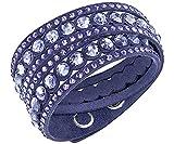 Swarovski Damen-Armband rhodiniert Kristall lila 36 cm - 5201122