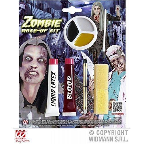 9 - teiliges Zombie Make - Up Schminkset mit Kunstblut