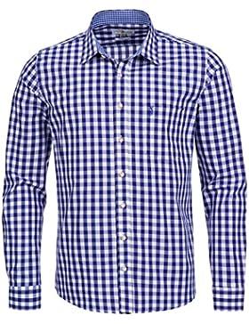 Almsach Trachtenhemd Slim Fit in Dunkelblau