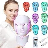 Aravli LED Photon Therapy 7 Colors Light Treatment Facial Beauty Skin Care Rejuvenation Phototherapy Mask PDT Beauty Face for