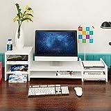 Soporte de periódico/estante superior para pantalla de monitor de escritorio, 97 cm, estantes multicolor, opcional, A +