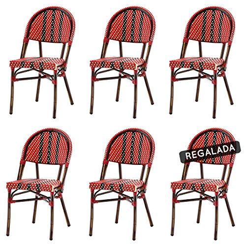 Lot de 6 chaises NICO en polyrotin