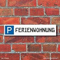 """Schild Parkplatz /""""Ihr Text/"""" 52 x 11 cm 3 mm Alu-Verbund"""