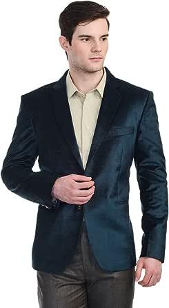 The Cotton Velvet Masterpiece Blazer in Indigo Blue