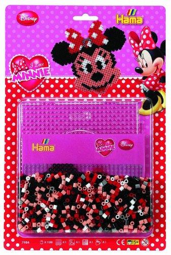Hama - 7984 - Loisirs Créatifs - Blister 1100 Perles à Repasser + 1 Plaque - Taille Midi - Minnie