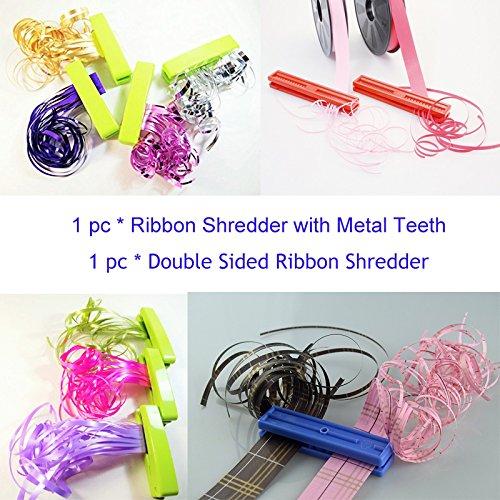 Preisvergleich Produktbild Stabiler Band Shredder Curler mit Metall Zähne Klinge Lime Grün X 1und doppelt Seiten Band Aktenvernichter Wimpernzange Werkzeug X 1