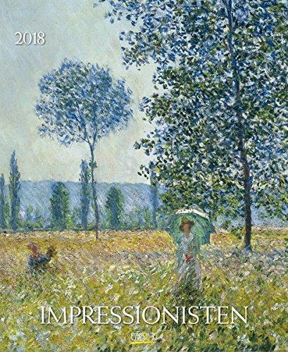Impressionisten 2018: Kunstkalender mit Werken aus dem Impressionismus. Wandkalender mit Meisterwerken der Epoche. Format: 36 x 44 cm, Foliendeckblatt (Bbb Air)