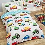 Trucks and Transport Junior Decken und Kissenbezug Set