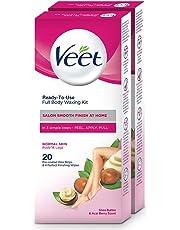 Veet Full Body Waxing Kit for Normal Skin - 20 Strips (Pack of 2)