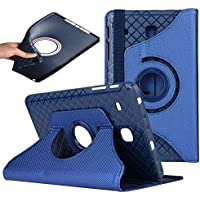 Samsung Galaxy Tab A 9.7 Case,elecfan 360 Degrees Rotating Stand PU Leather Case Protective Flip Folio Detachable Soft Rubber Cover for T550 9.7 inch Tablet (Tab A 9.7, Blue)