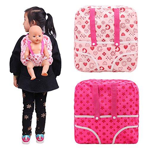 Miunana Accesorios Portabebés para 14-18 Pulgadas Muñecas Baby Doll Baby Alive