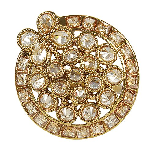 {extra 20% di sconto} muchmore trendy tradizionale oro cristallo anello partywear gioielli per donna
