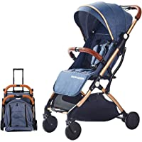 SONARIN Lightweight Stroller,Compact Travel Buggy,One Hand Foldable,Five-Point Harness,Great for Airplane(Blue)