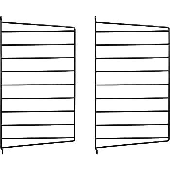 Wandleiter 2er Set Schwarz 50 x 30 cm String