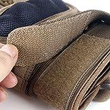 Unigear Taktische Handschuhe mit Klettverschluss Motorrad Handschuhe Army Gloves Sporthandschuhe geeignet für Motorräder Skifahren, Militär, Airsoft (Braun-Voll, L) -