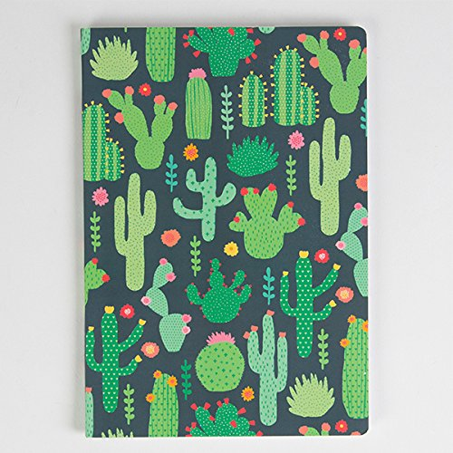 a5-sized-notebook-green-colourful-cactus-design-plain-paper