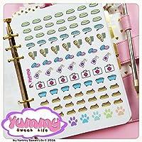 2 FOGLI DI ADESIVI Stickers A5 Cura Animali Domestici