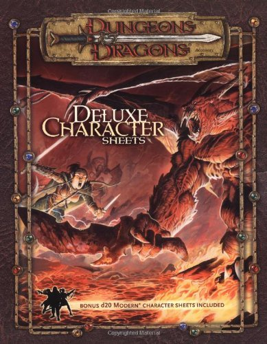 Dungeons and Dragons Deluxe Player Character Sheets (Dungeons & Dragons) by David Noonan (1-Jan-2004) Paperback
