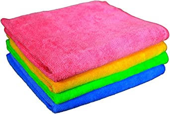 Sheen Microfiber Cleaning Cloth | Home Cleaning Products | Table Cleaning Cloth | Kitchen Cleaning Cloth | Laptop Cleaning Cloth | Microfiber Cloth for Kitchen| 40X40 cm | 300GSM | Pack of 4 |