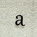 Colours-Manufaktur Hausnummer Nr. a - Schriftart: Klassisch - Höhe: 20-30 cm - viele Farben wählbar (RAL 9005 tiefschwarz (schwarz) glänzend, 20 cm)