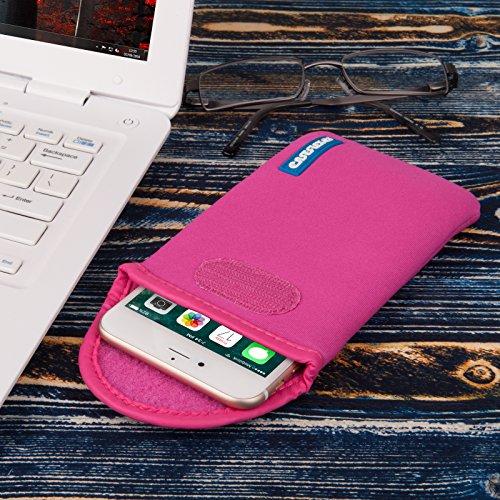 Caseflex Apple iPhone 5C Tasche, Neoprene Beutel Hülle / Apple iPhone 5C Pouch / Skin / Cover - Schwarz Dunkelrosa