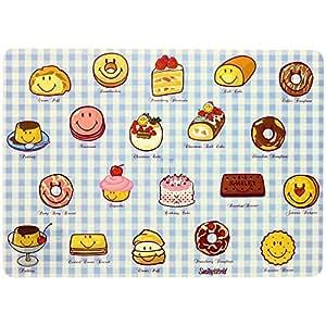 Promobo - Set De Table Licence Smiley World Imprimé Carreaux Gourmandise Ludique Enfant