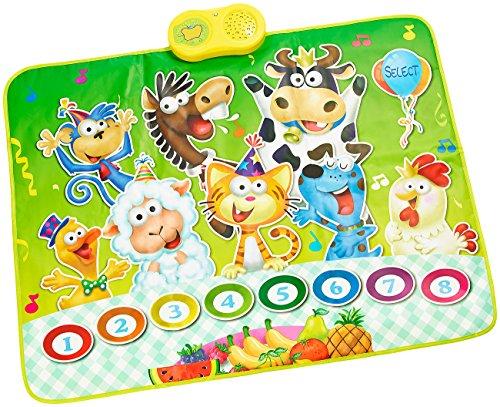 Playtastic Musikinstrumente: Berührungsempfindliche Musikmatte - Der singende Bauernhof (Musikmatte Kinder)