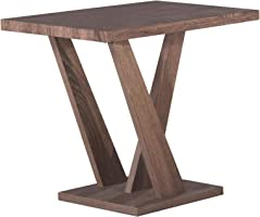 Jiwa Berani Carla End Table, Brown - 60H x 45W x 55D cm